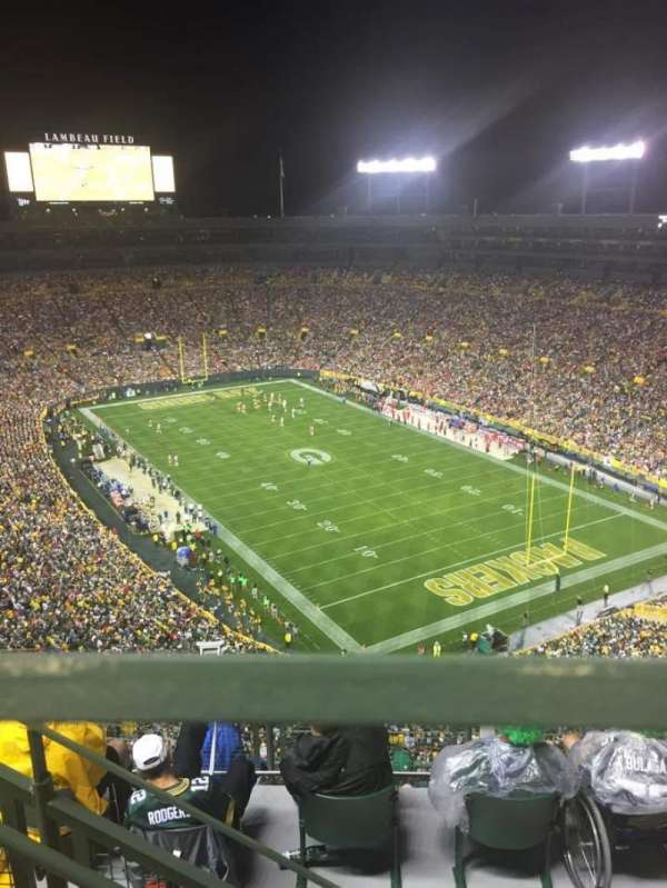 Lambeau Field, section: 738s, row: 8, seat: 8