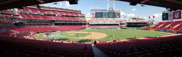 Great American Ball Park, section: 131, row: OO, seat: 1