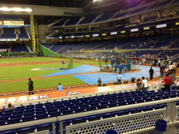 Marlins Park, section: 20, row: 2, seat: 10