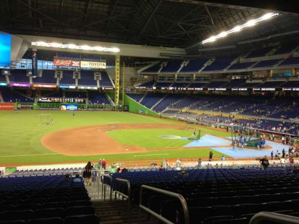 Marlins Park, section: 22, row: 26, seat: 1