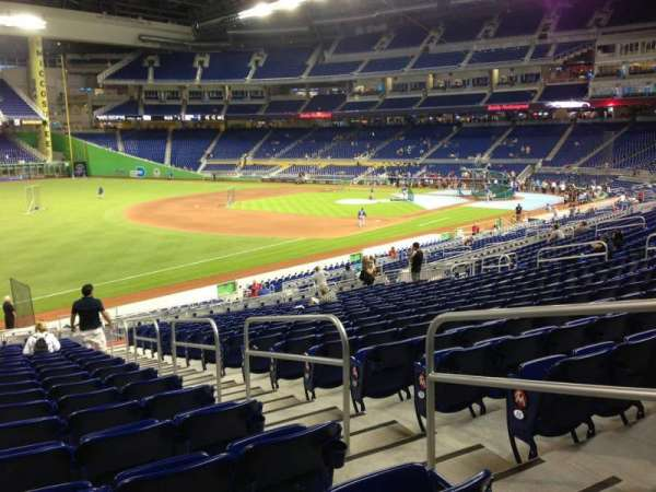 Marlins Park, section: 25, row: 18, seat: 3