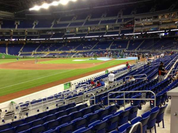 Marlins Park, section: 25, row: 1, seat: 3