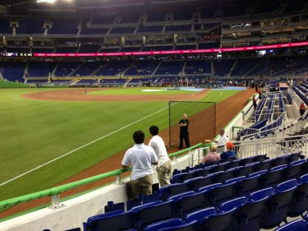Marlins Park, section: 26, row: J, seat: 14