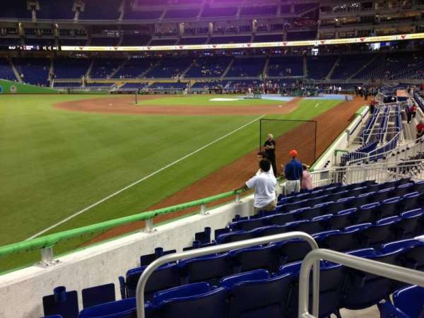 Marlins Park, section: 27, row: L, seat: 1