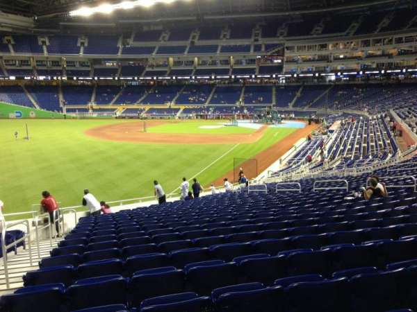 Marlins Park, section: 27, row: 21, seat: 21