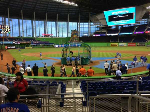 Marlins Park, section: 14, row: D, seat: 1
