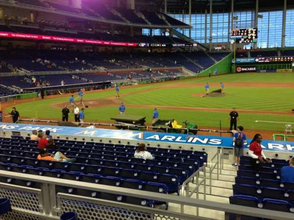 Marlins Park, section: 9, row: 2, seat: 2