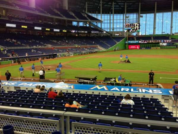 Marlins Park, section: 9, row: 2, seat: 8