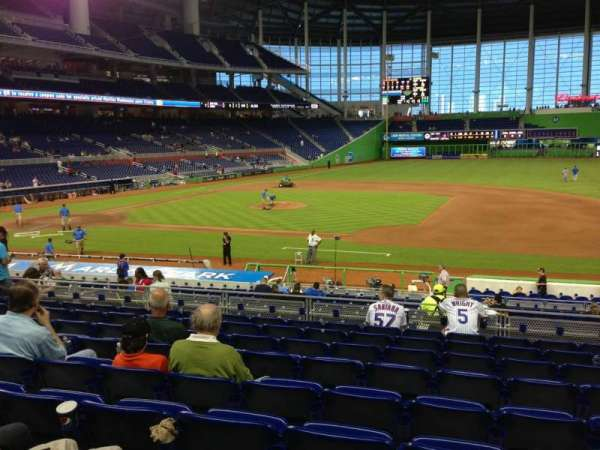 Marlins Park, section: 8, row: 9, seat: 9