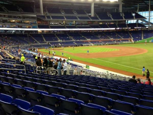 Marlins Park, section: 4, row: 13, seat: 5