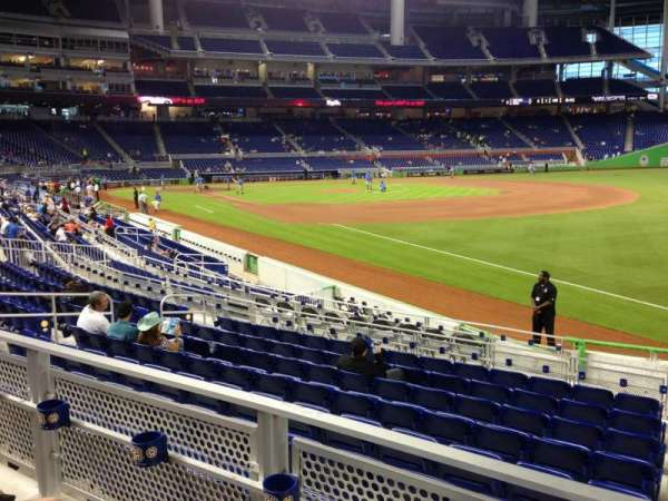 Marlins Park, section: 4, row: 2, seat: 1