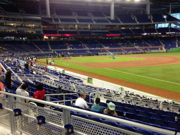 Marlins Park, section: 4, row: 2, seat: 8