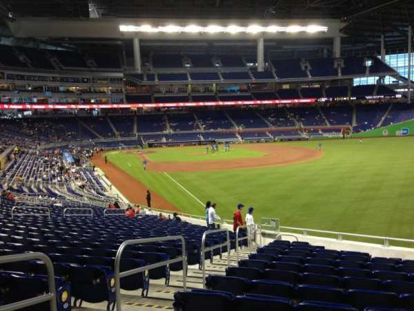 Marlins Park, section: 1, row: 21, seat: 15