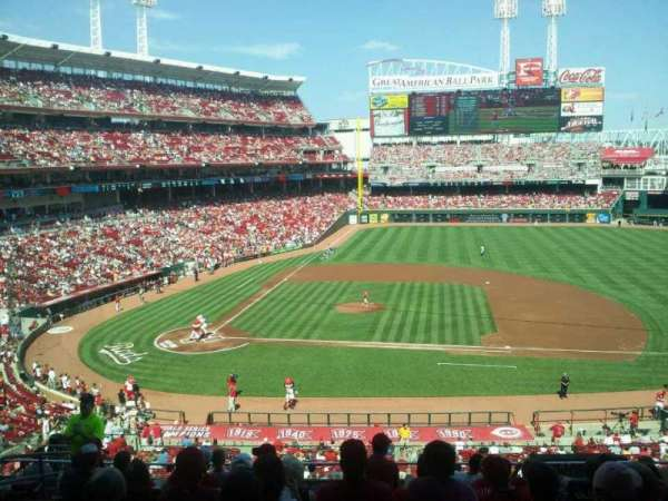 Great American Ball Park, row: j, seat: 12