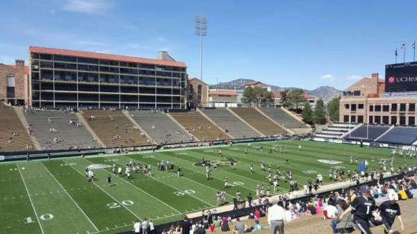 Folsom Field, section: 115, row: 43, seat: 23