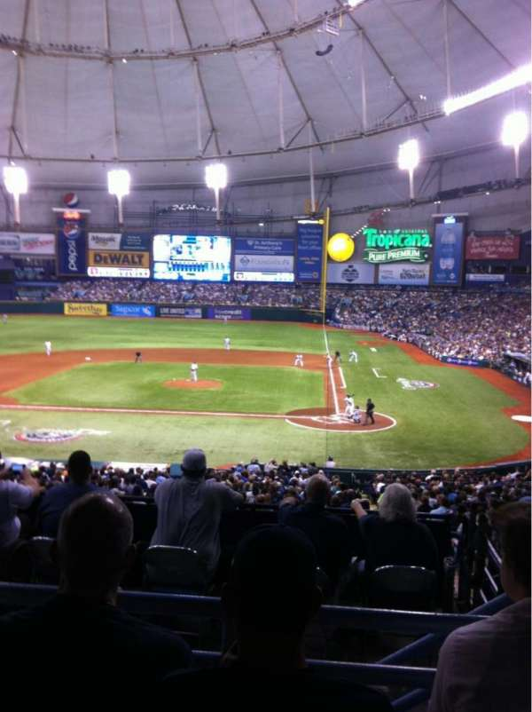 Tropicana Field, section: 109, row: RR, seat: 7