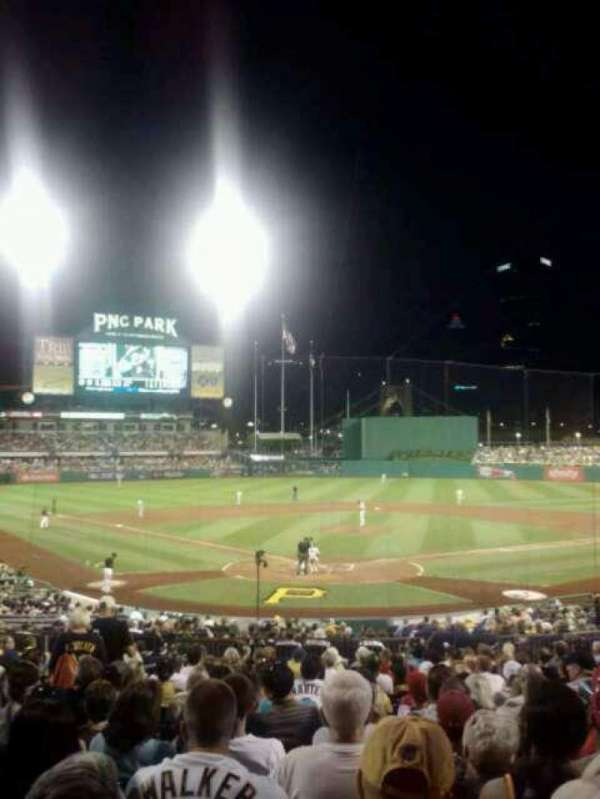 PNC Park, section: 116, row: J, seat: 4