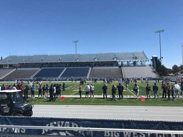 Mackay Stadium, section: B, row: 1, seat: 7