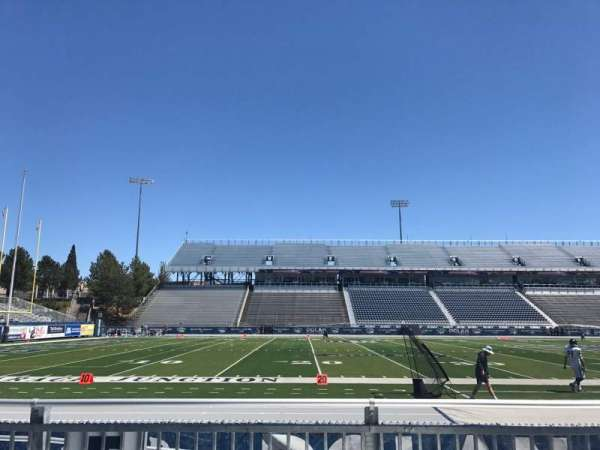 Mackay Stadium, section: F, row: 1, seat: 12