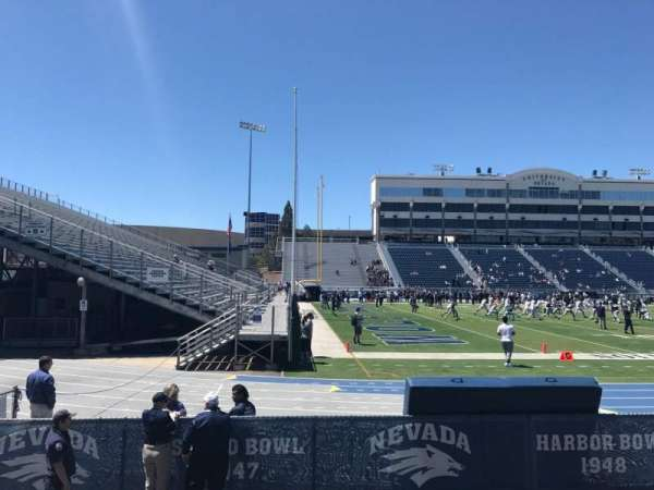 Mackay Stadium, section: M, row: 4, seat: 34