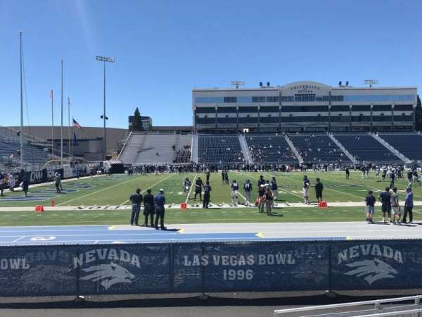 Mackay Stadium, section: L, row: 4, seat: 34