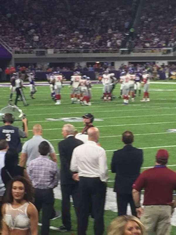 U.S. Bank Stadium, section: 106, row: 2, seat: 2