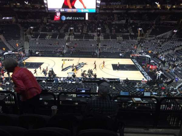 AT&T Center, section: 107, row: 32, seat: 1and3