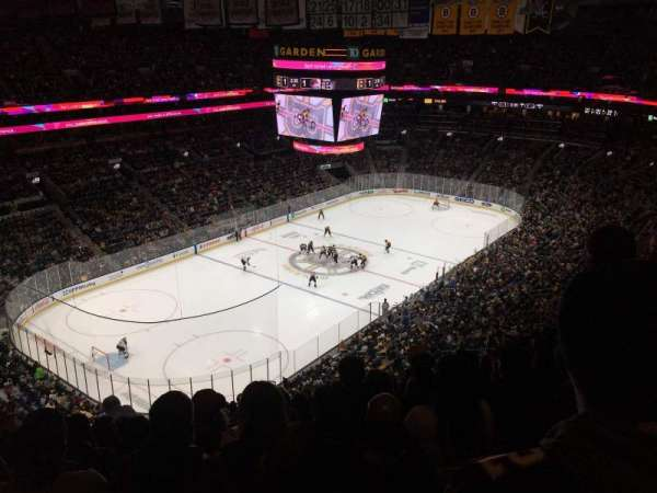 TD Garden, section: Bal 305, row: 13, seat: 17