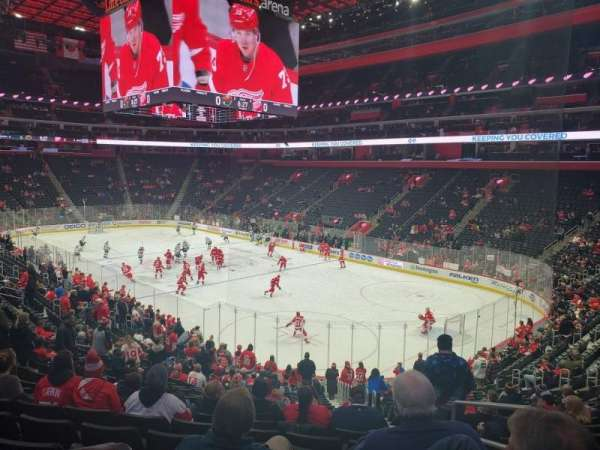 Little Caesars Arena, section: 105, row: 22, seat: 2