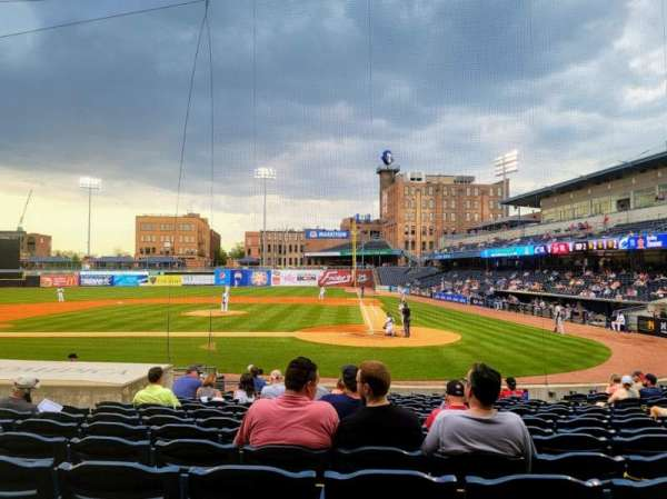 Fifth Third Field, section: 108, row: J, seat: 11