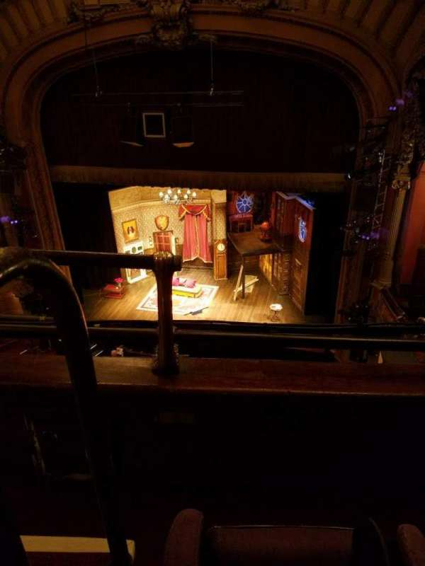 Lyceum Theatre (Broadway), section: Balcony R, row: B, seat: 2