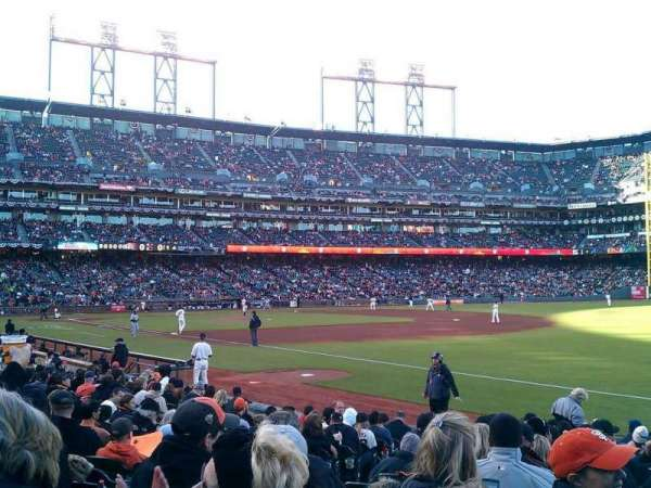 Oracle Park, section: 102, row: 15, seat: 13
