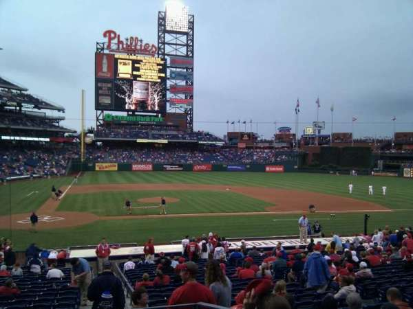 Citizens Bank Park, section: 119, row: 25, seat: 5