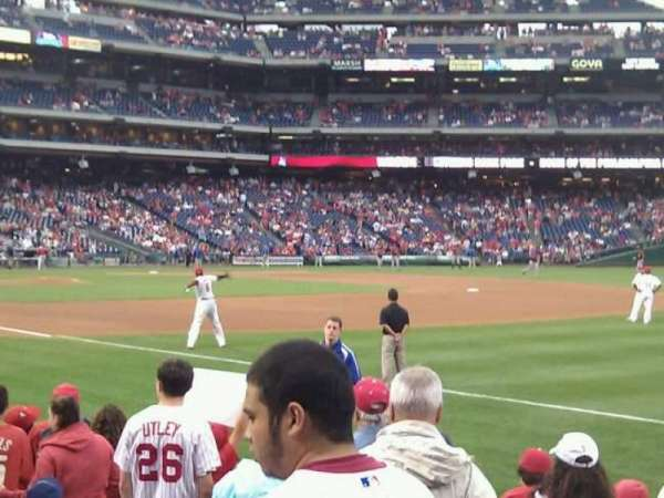 Citizens Bank Park, section: 111, row: 9, seat: 3