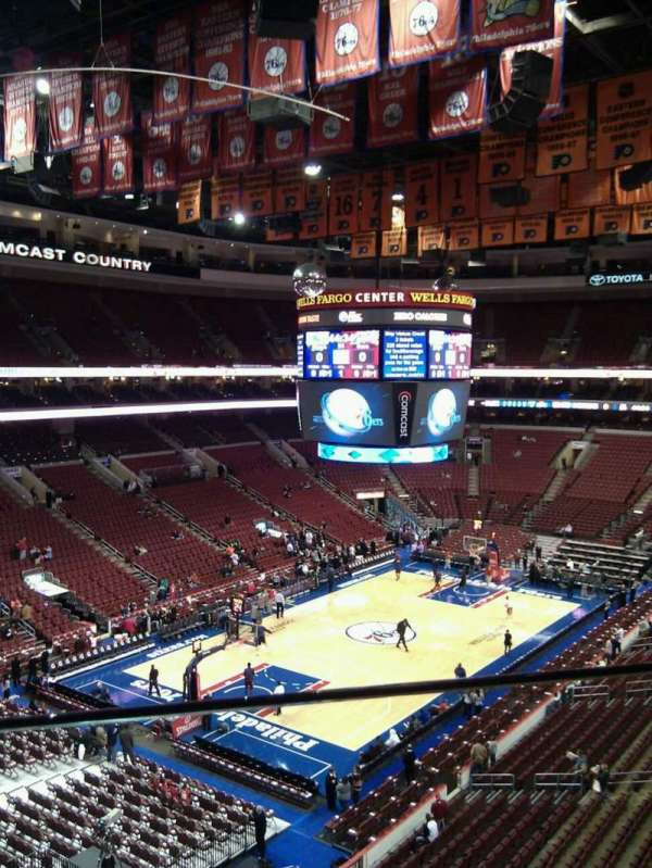 Wells Fargo Center, section: 209, row: 1, seat: 9