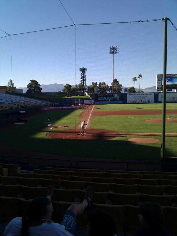 Cashman Field, section: 15, row: k, seat: 7