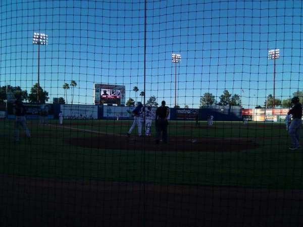 Cashman Field, section: C, row: 2, seat: 4