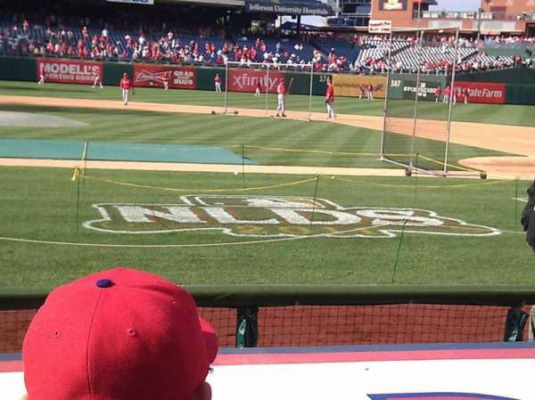 Citizens Bank Park, section: 117, row: 2, seat: 15