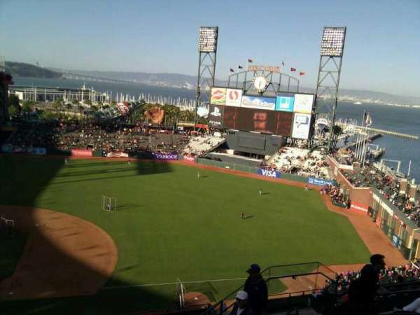 Oracle Park, section: VR307, row: 7, seat: 9