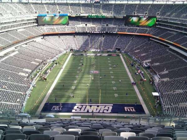 Metlife Stadium, section: 301, row: 23, seat: 10