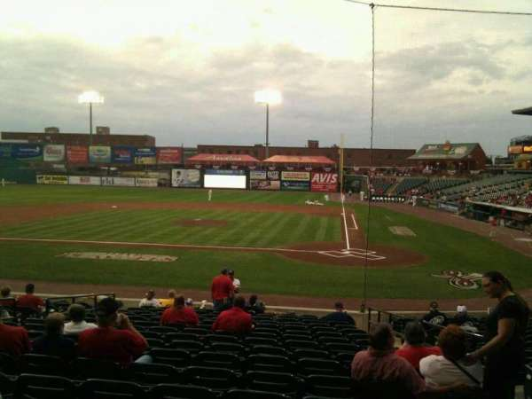Clipper Magazine Stadium, section: 18, row: g, seat: 4