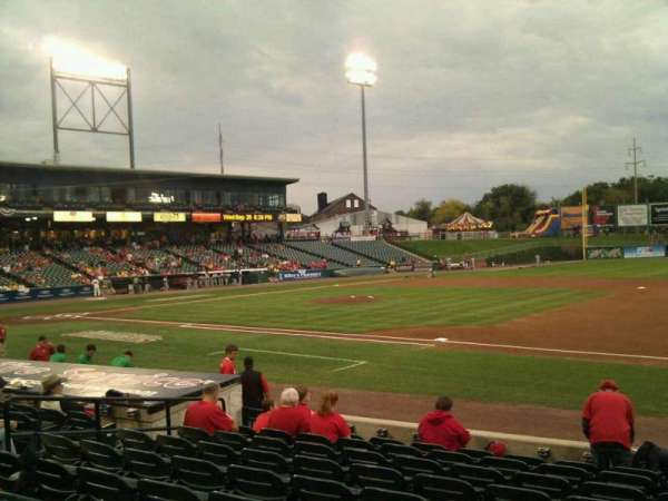 Clipper Magazine Stadium, section: 6, row: j, seat: 1