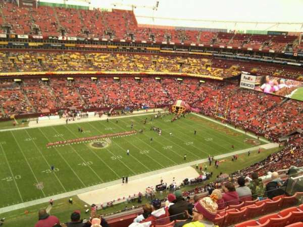 FedEx Field, section: 430, row: 8, seat: 16