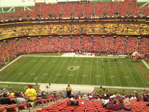 FedEx Field, section: 426, row: 26, seat: 22