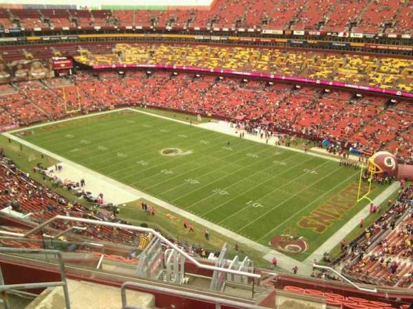 FedEx Field, section: 421, row: 12, seat: 15
