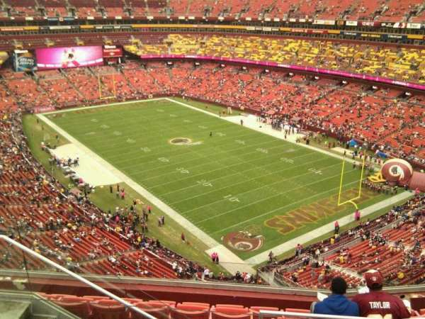 FedEx Field, section: 419, row: 7, seat: 13