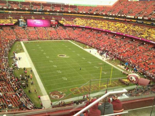 FedEx Field, section: 417, row: 6, seat: 7