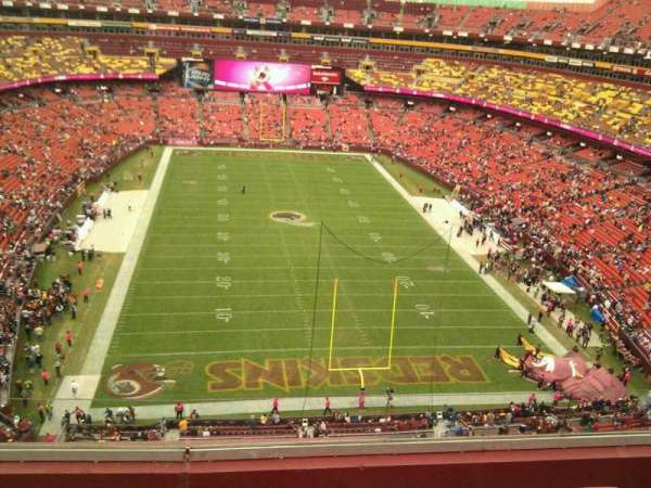 FedEx Field, section: 415, row: 5, seat: 12