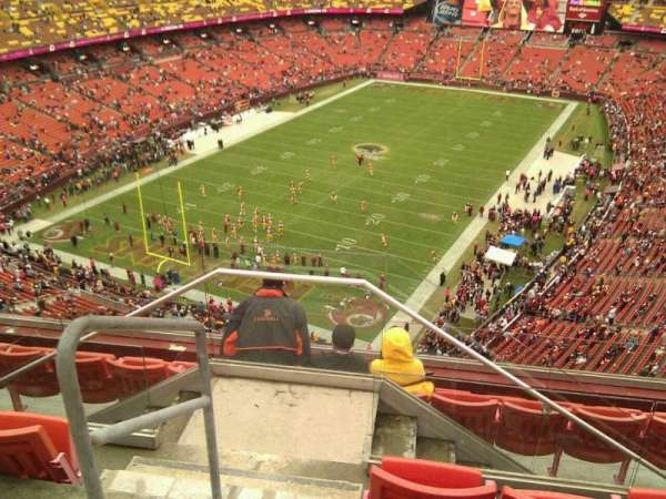 FedEx Field, section: 410, row: 7, seat: 17