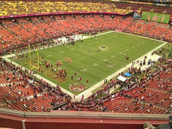 FedEx Field, section: 409, row: 4, seat: 6